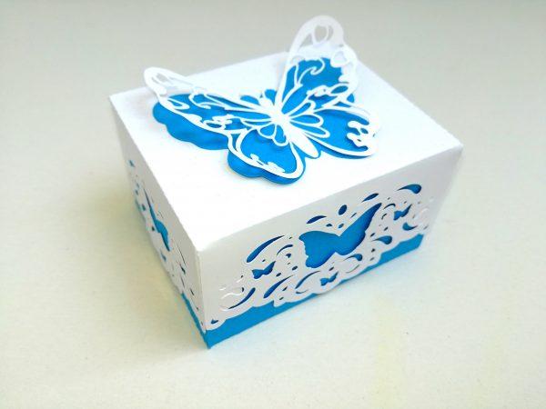 Pillangós köszönetajándék doboz