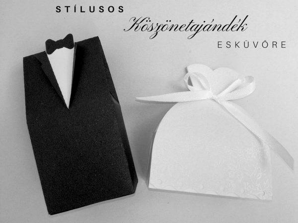 Vőlegény-menyasszony páros köszönetajándék
