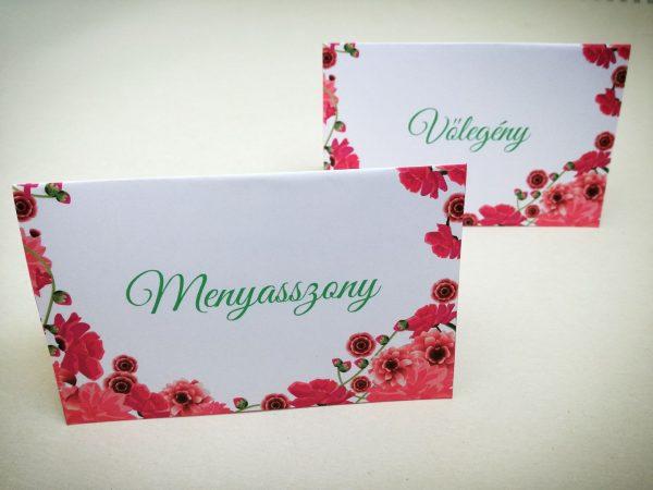 Virágos ültetőkártya