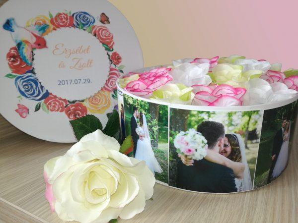 Fényképes virágdoboz Erzsébet & Zsolt