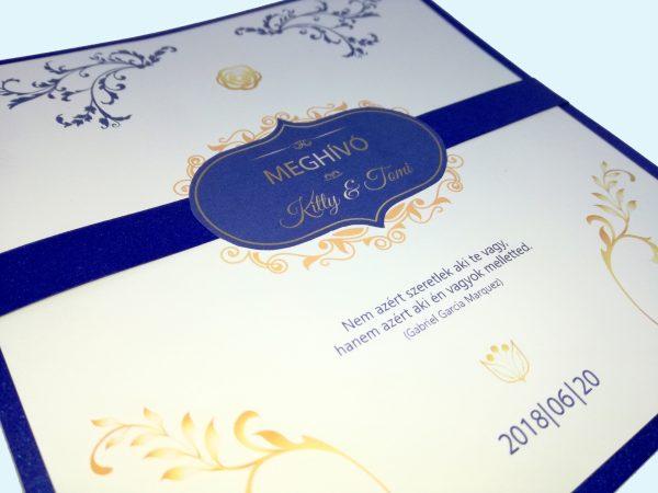 Esküvői meghívó egyedi grafikával
